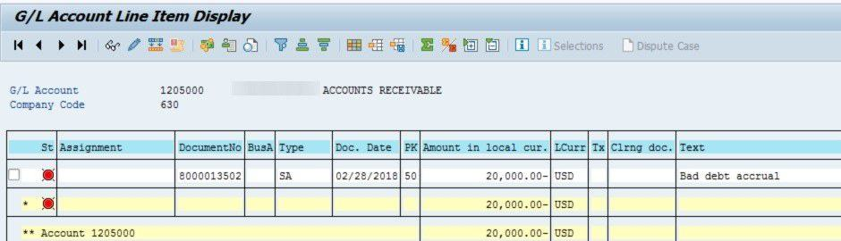Adding multiple accounts and company codes in the report. Click on the yellow arrows.