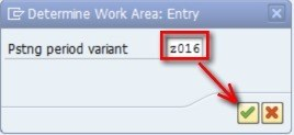 You will see the values below which show you which periods are currently open in your SAP system. If you do not see any values on the screen below, then create the values first by clicking on new entries.