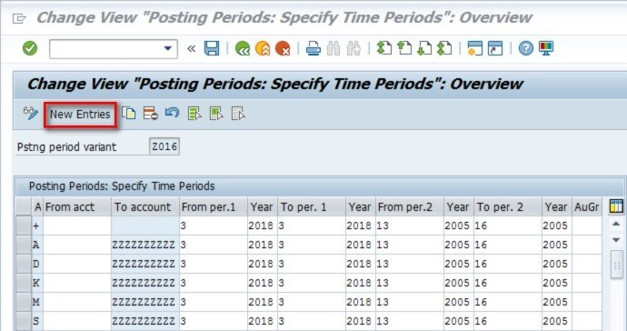 This is what all the columns mean A-This means the account type for which you are opening and closing the periods. For e.g. A stands for Assets, so for any Asset accounts, you can only make postings from Period 3 to Period 3 of 2018. If you make postings in any other period, you will get an error message. From acct- If you leave this column blank, then it applies for all accounts in that category.  you can also enter a range of accounts or a particular account if you want that account to have a different period open. e.g. if your asset range is from 7000000-7500000, if you leave the from account field blank, everything in this range can only be posted to in period 3. but if you want to have account 750000-7500010 open for period 3 and 4, you would enter that range in there and you would have two lines for