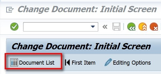 You are then brought to a new screen. Here you can enter details that will help you get your document. E.g. you can click on own documents only to only see your documents. If you created the document today, then enter