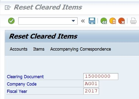 If you enter a document that is not a clearing document, SAP will give you an error message.