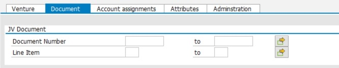 The account assignment tab gives you the ability to run this report by a certain G/L account or a cost center.