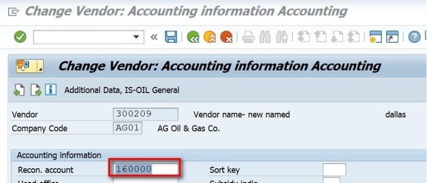 When you make a posting, you can see that a G/L account is also updated when you post to a vendor.