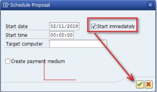 On the left of the screen you will see a yellow icon which tells you that the proposal is running. Wait for a minute for the proposal to finish running. You can also click on the refresh icon to see if the proposal gets created.