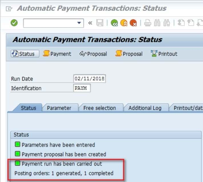 Click on the Payment icon to view details.