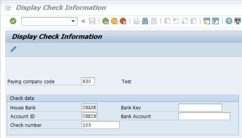 Hit Enter and we can view all the check information created.  Ensure that this is correct and you should be good to go.