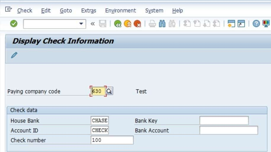 Click on enter and view the check details. Notice that this check now has an enchashment date.