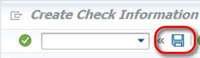 The check number has been created.