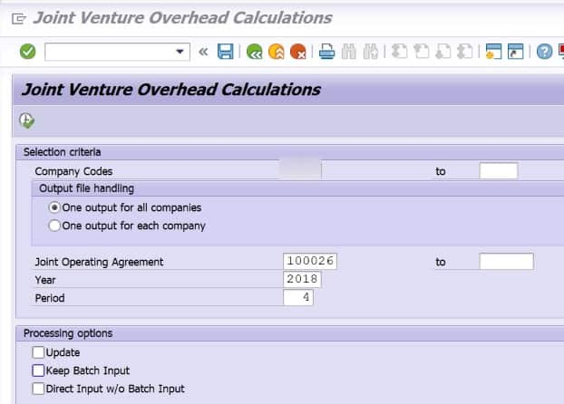 The overheads that are calculated