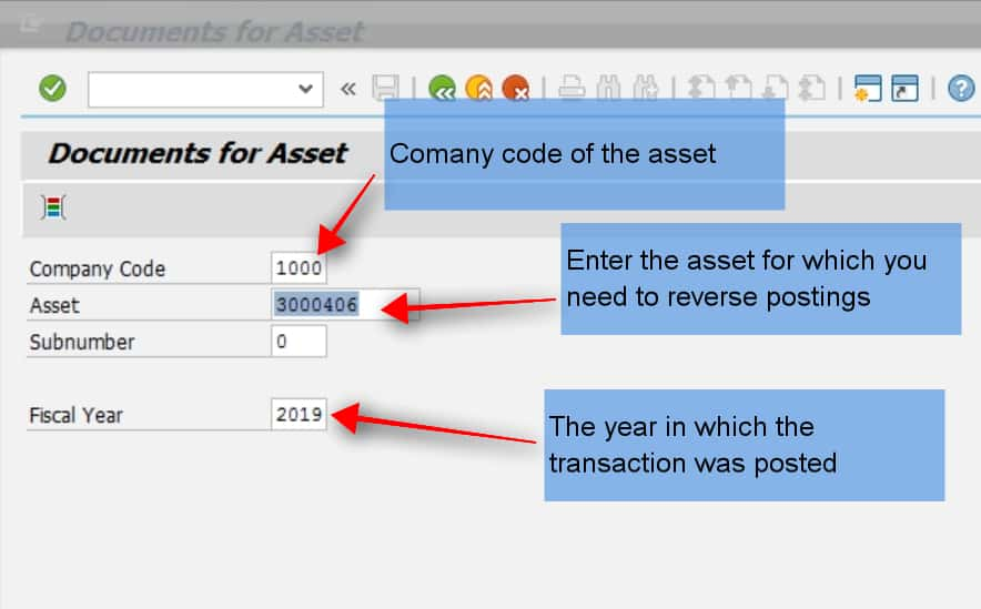 After entering this info, SAP will show you the list of transactions posted to this asset in the selected company code and year.