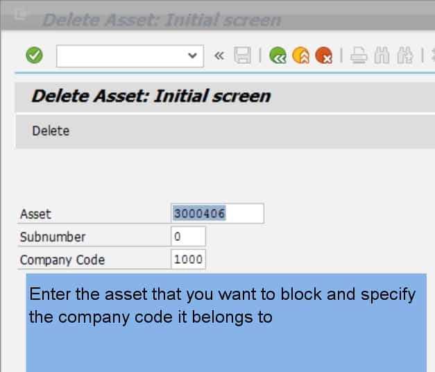 If the asset has value, you wil get an error message Deleting is not possible, The asset already has values