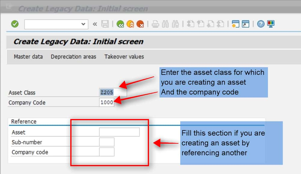 Enter the asset description, main text etc. on the next tab.