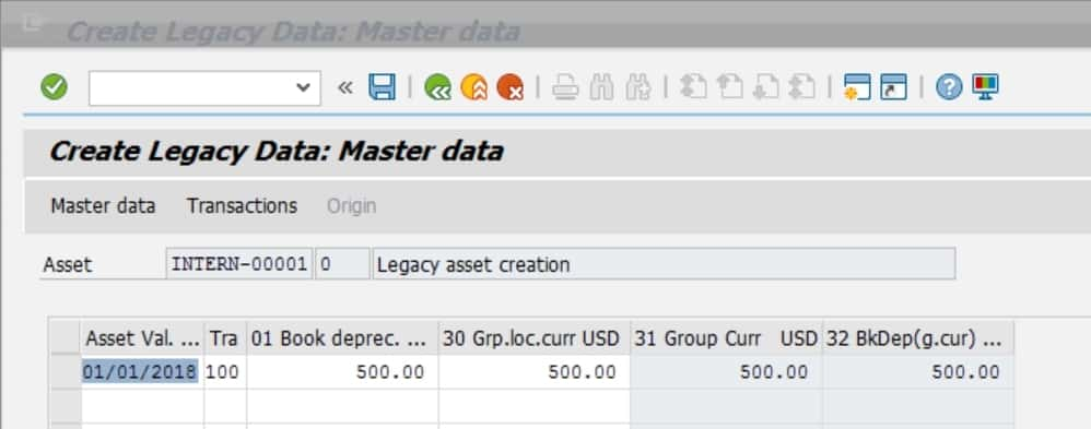 Once you enter all the info, click on save and your asset has been created.