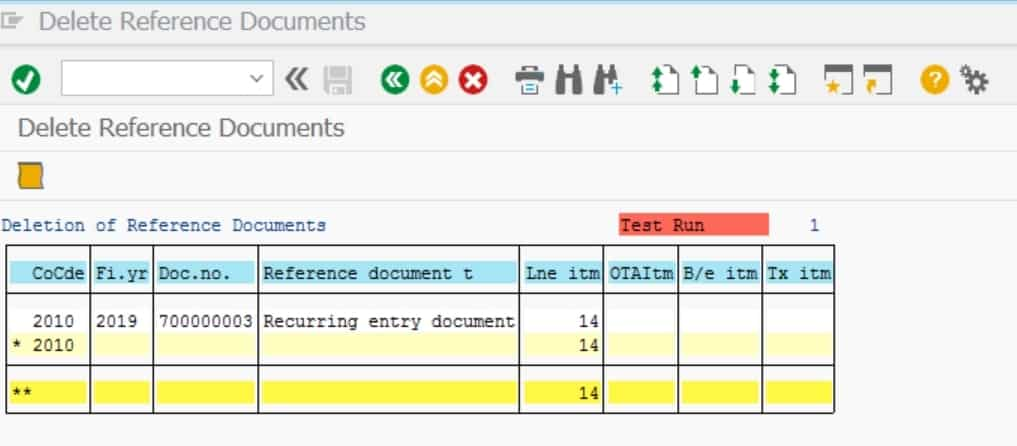 The recurring entry document will show up click on the log icon to see more details.