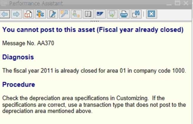 Go to tcode OAAQ to check the closed fiscal year.